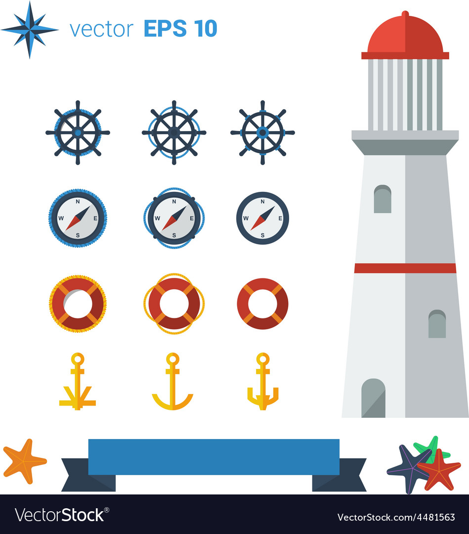 Sea lighthouse 01 vector | Price: 1 Credit (USD $1)