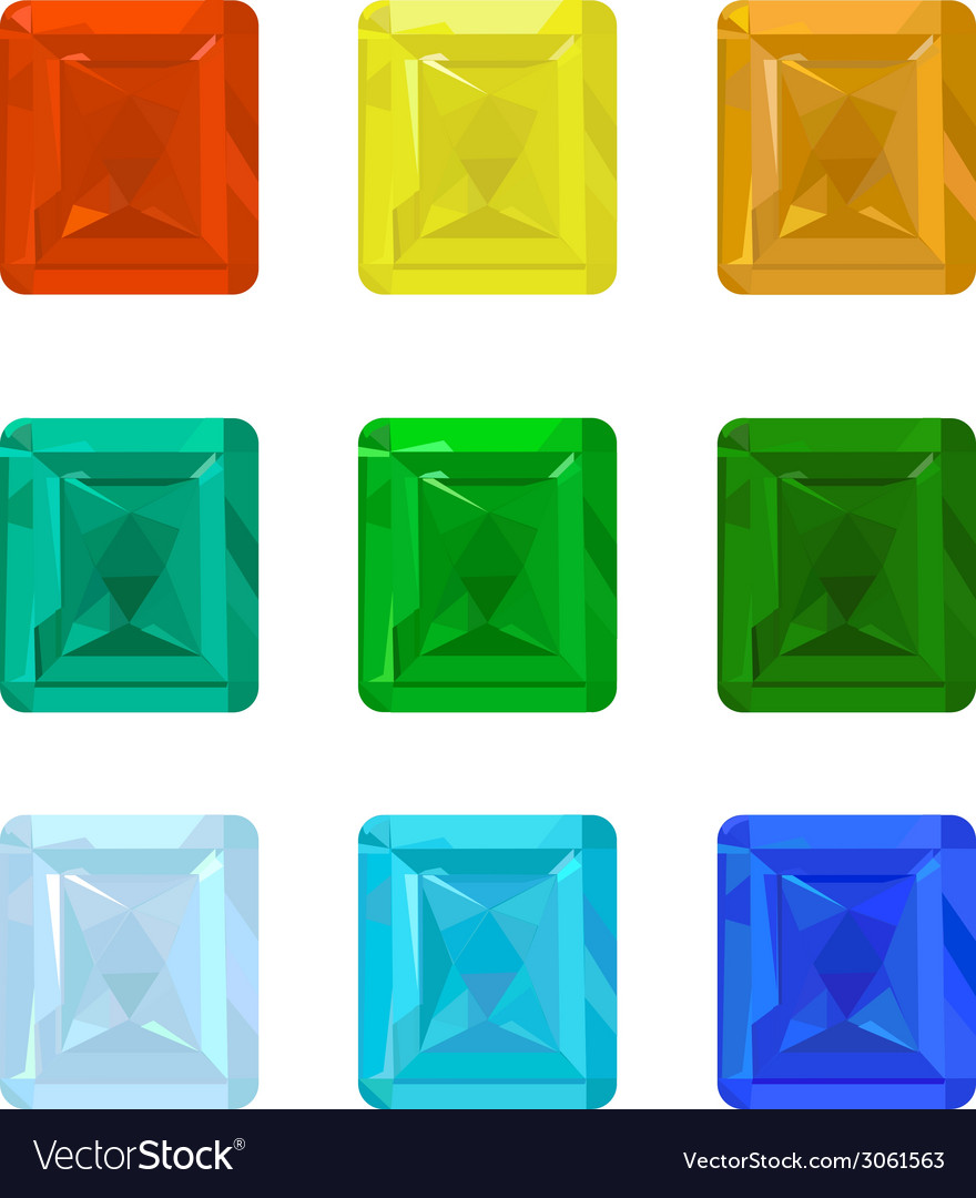 Set gemstones vector | Price: 1 Credit (USD $1)