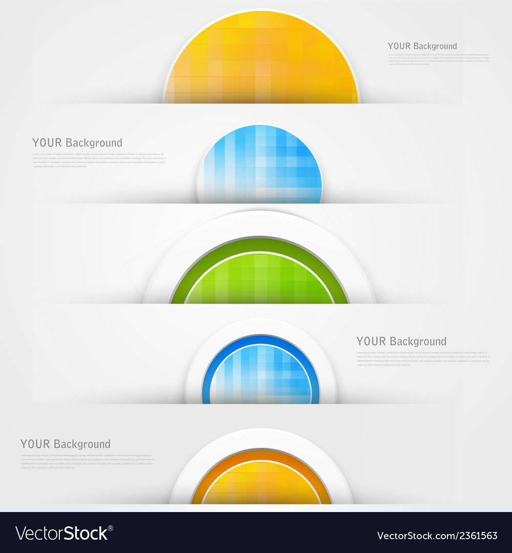 Set of modern banners with blue lines vector | Price: 1 Credit (USD $1)