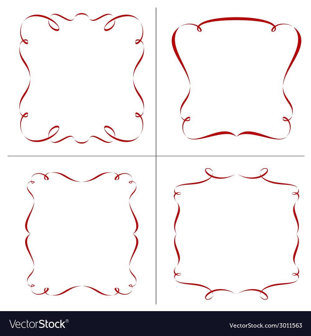 Set of retro frames vector   Price: 1 Credit (USD $1)