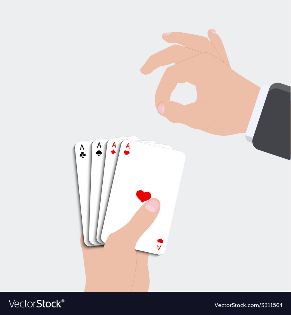 Ace playing card set vector | Price: 1 Credit (USD $1)