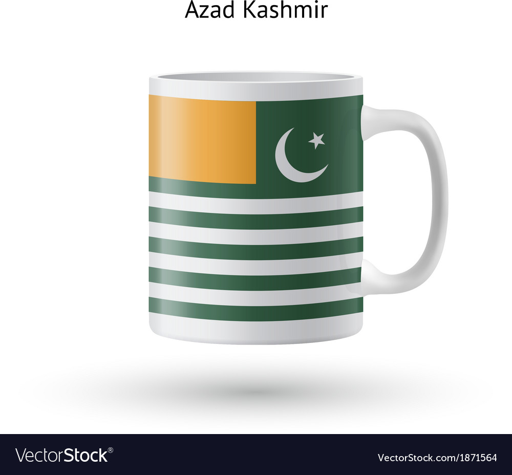 Azad kashmir flag souvenir mug on white background vector | Price: 1 Credit (USD $1)
