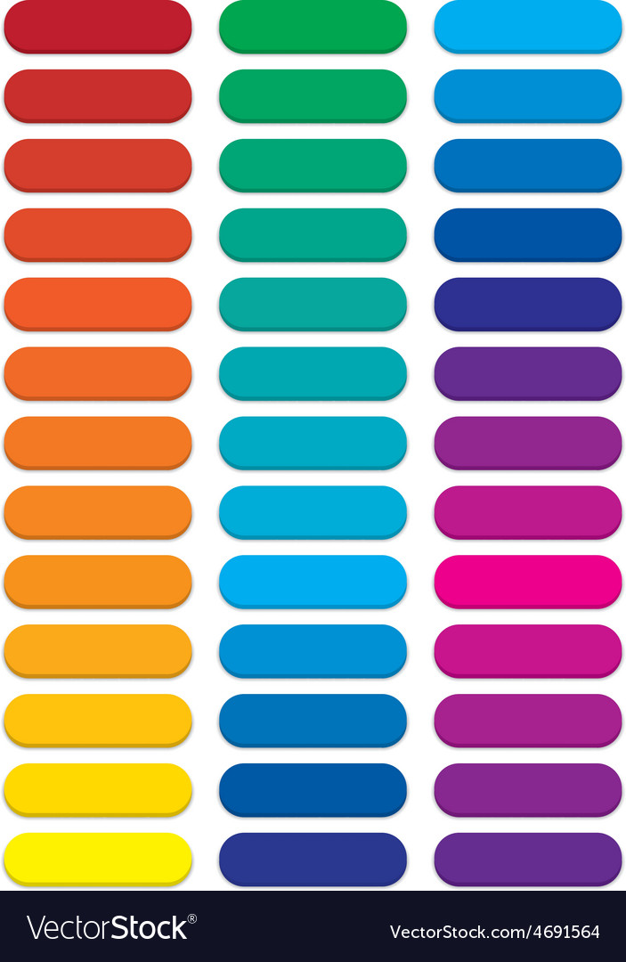 Blank rainbow pill web buttons vector | Price: 1 Credit (USD $1)
