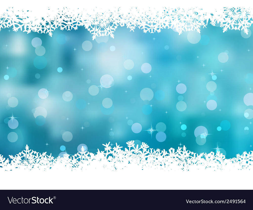 Blue background with snowflakes eps 8 vector | Price: 1 Credit (USD $1)