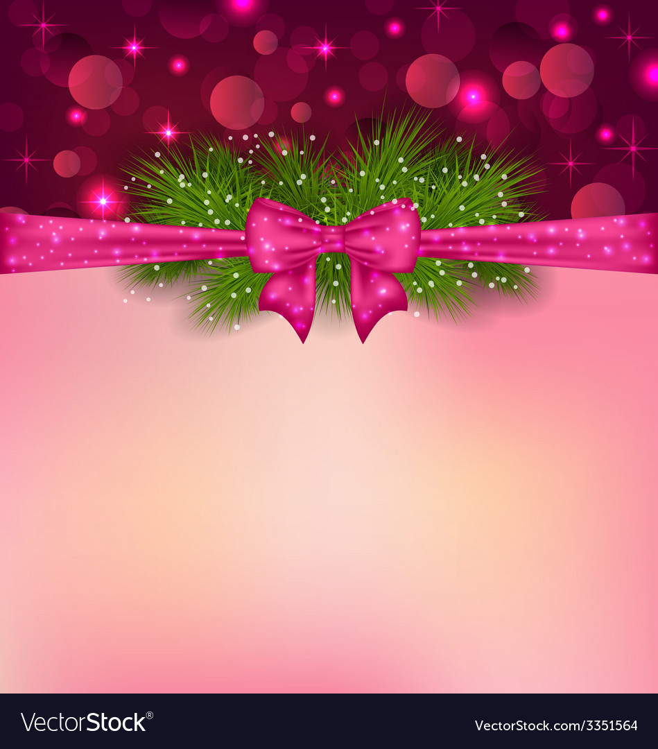 Christmas elegance background with fir branches vector | Price: 3 Credit (USD $3)