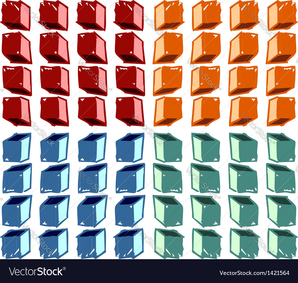 Colorful cubes pattern vector | Price: 1 Credit (USD $1)