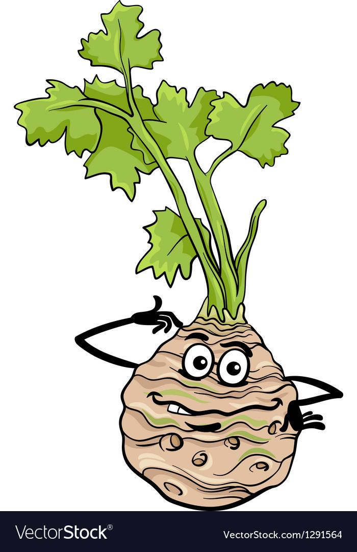 Funny celery vegetable cartoon vector | Price: 1 Credit (USD $1)