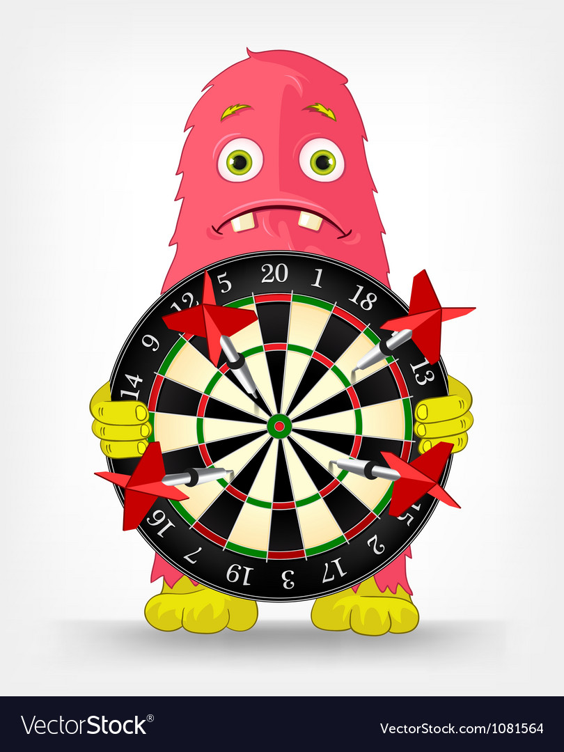 Funny monster darts vector | Price: 1 Credit (USD $1)