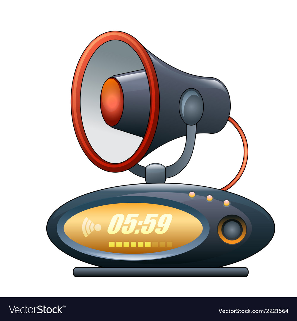 Megaphone alarm clock vector   Price: 1 Credit (USD $1)