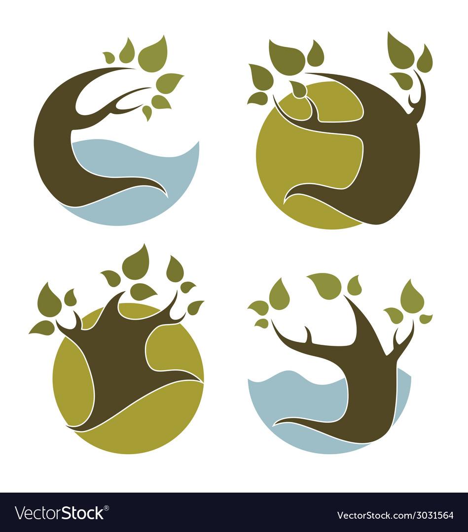 Nature emblems vector | Price: 1 Credit (USD $1)