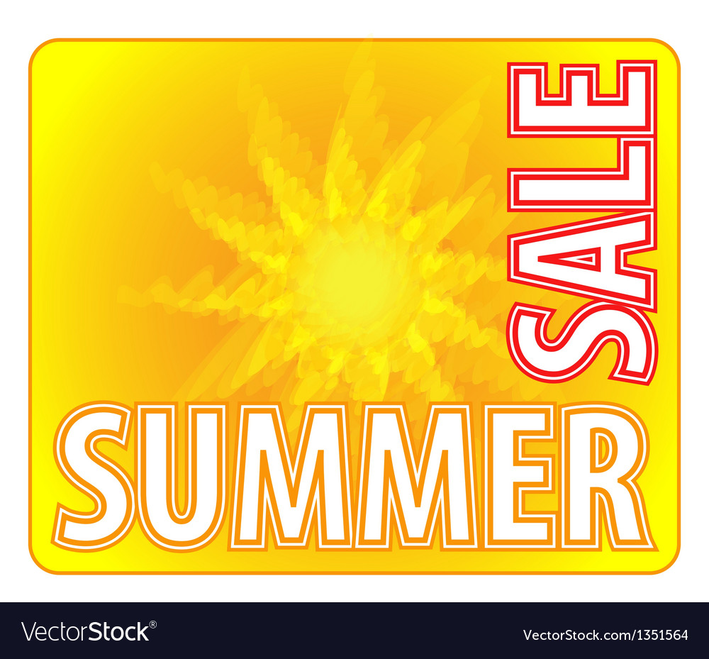 Summer sale - information message for customers vector | Price: 1 Credit (USD $1)
