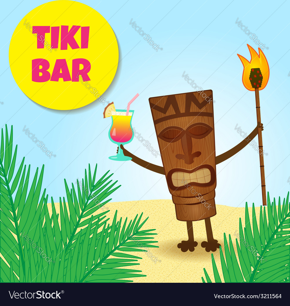 Tiki with legs vector | Price: 1 Credit (USD $1)