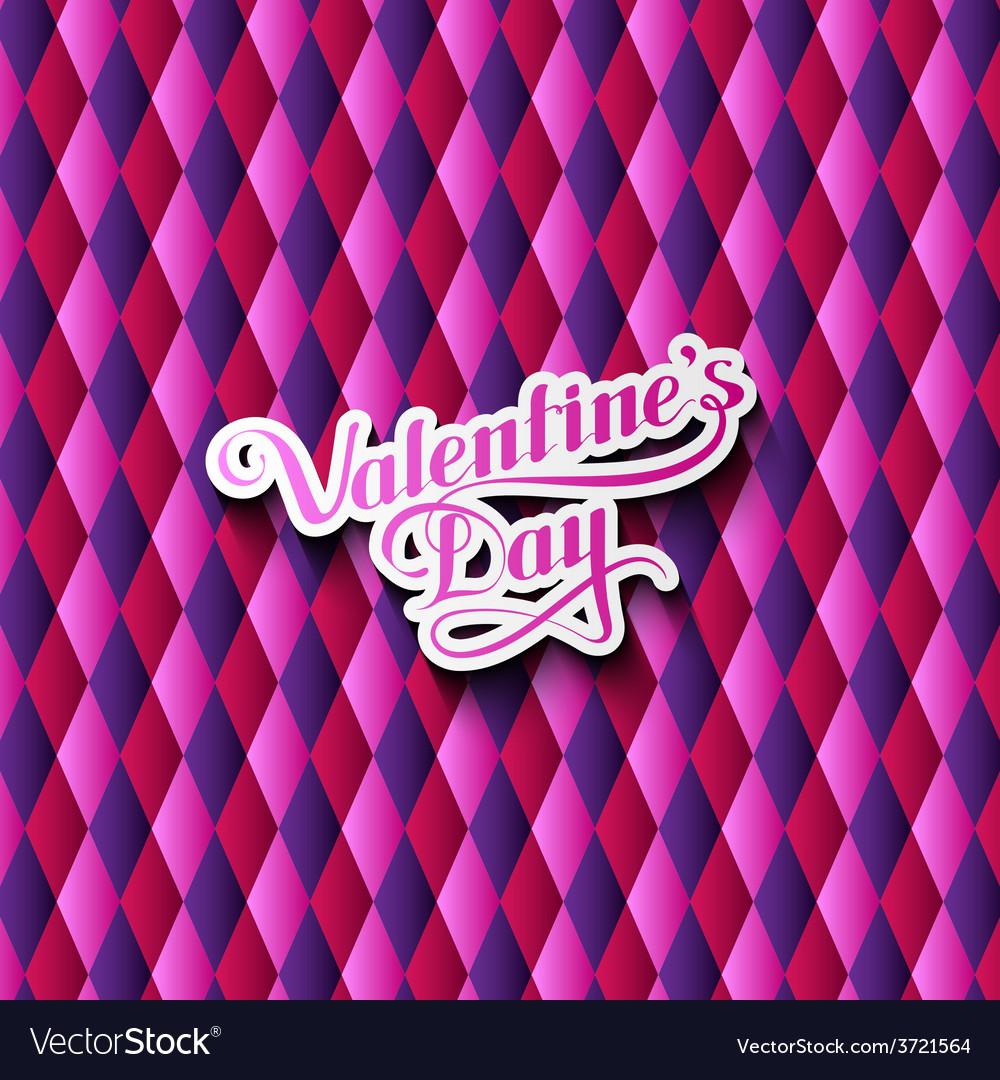 Valentines day retro label vector   Price: 1 Credit (USD $1)