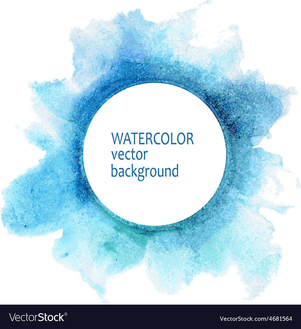 Watercolor circle hand paint on white background vector | Price: 1 Credit (USD $1)
