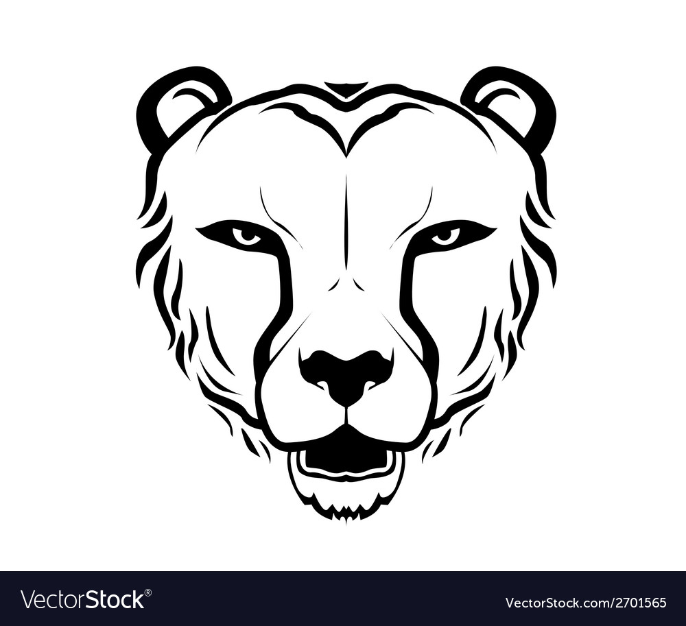 Cheetah head silhouette vector | Price: 1 Credit (USD $1)