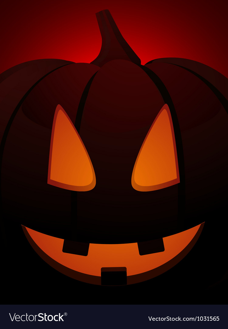 Halloween pumpkin close up on red vector | Price: 1 Credit (USD $1)