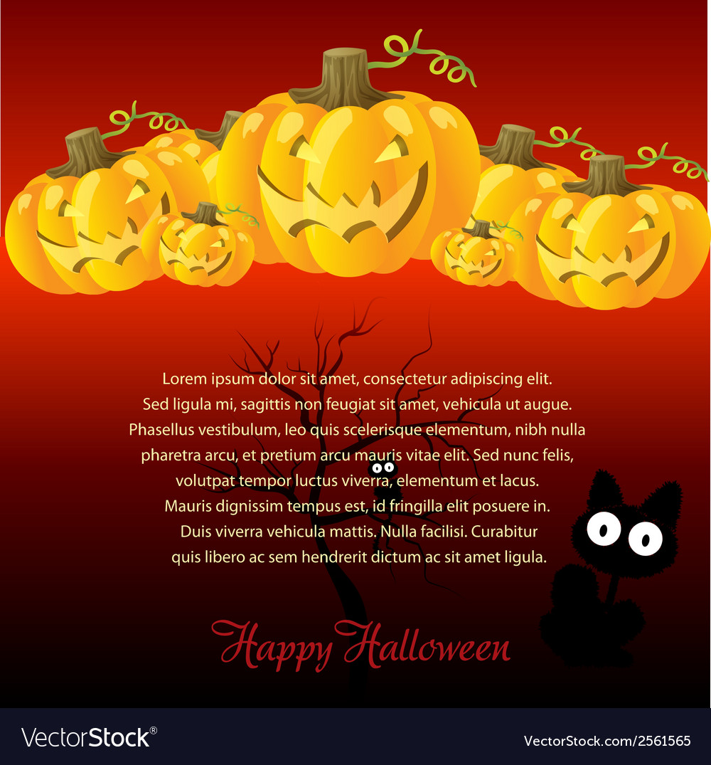 Halloween with pumpkins for invite cards vector   Price: 1 Credit (USD $1)