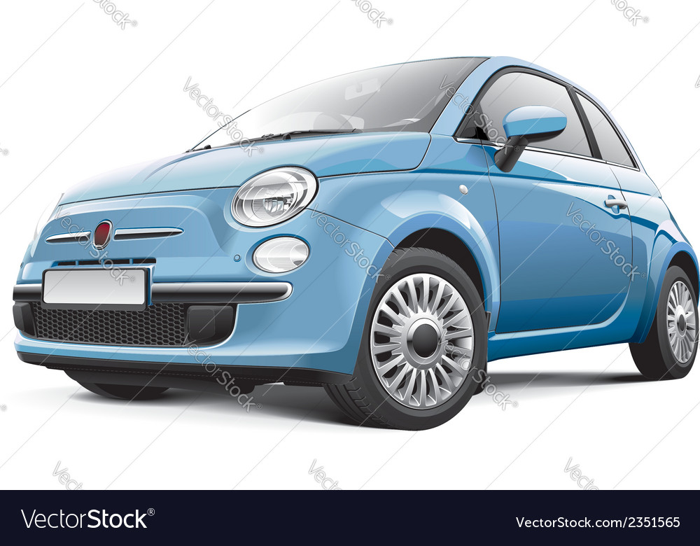 Italian city car vector | Price: 3 Credit (USD $3)