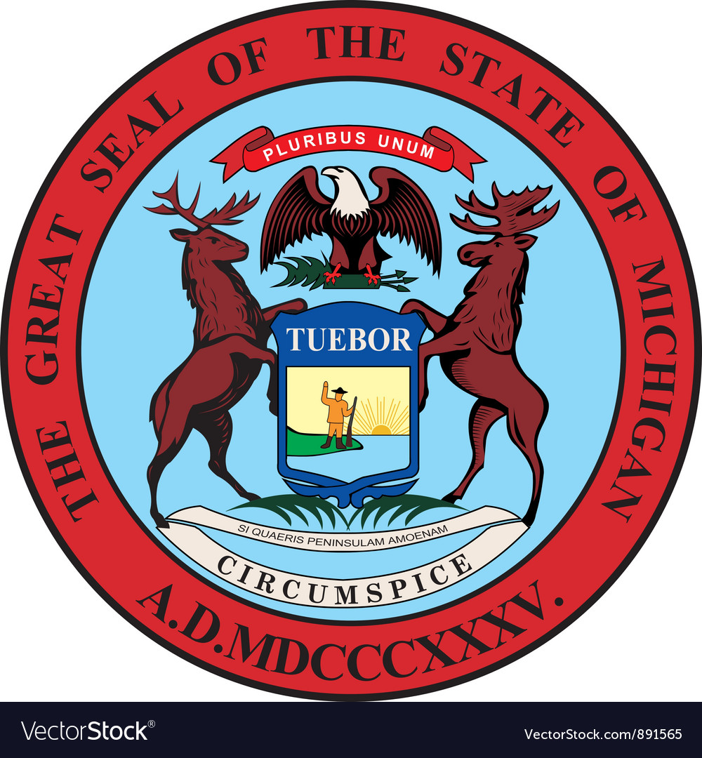 Michigan seal vector | Price: 1 Credit (USD $1)