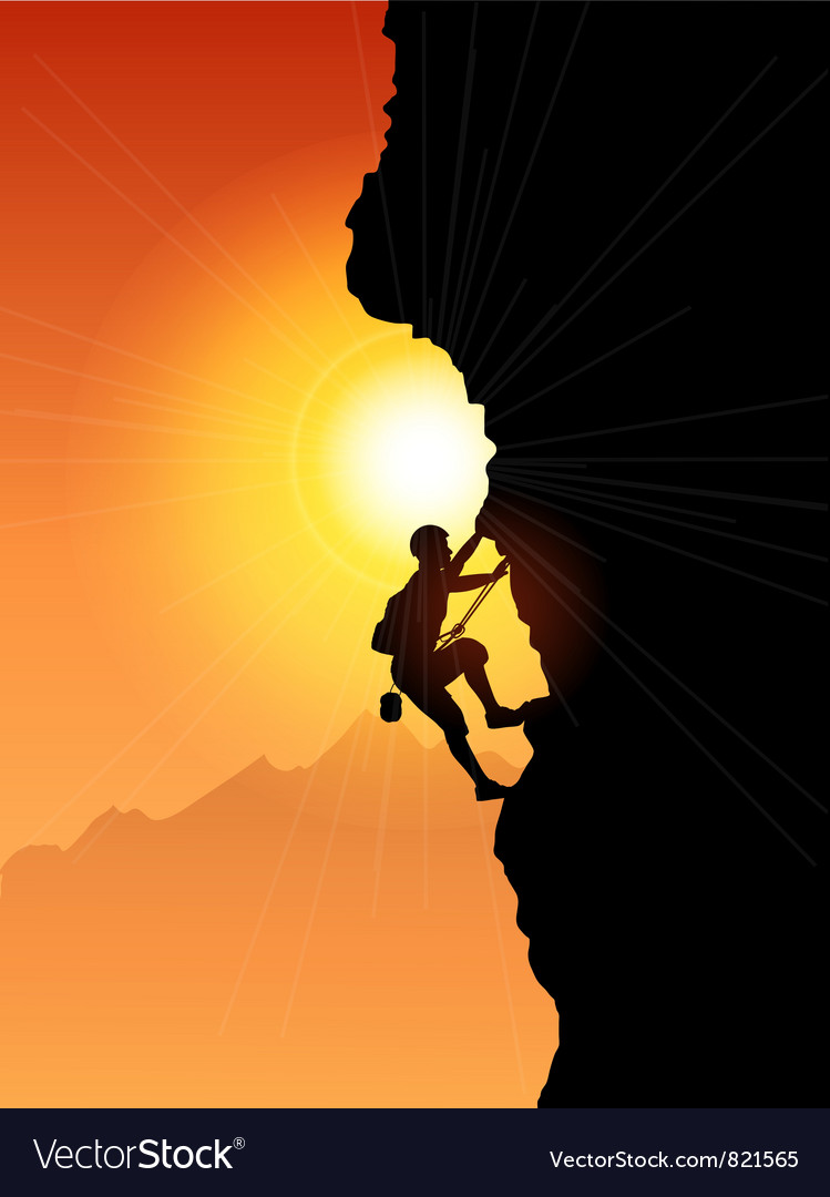 Rock climber vector | Price: 1 Credit (USD $1)