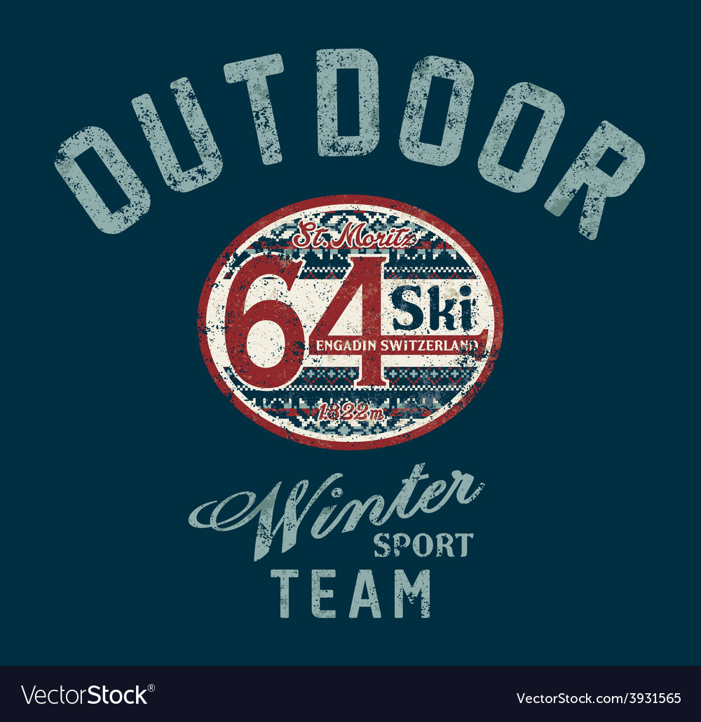 Saint moritz winter ski team vector | Price: 1 Credit (USD $1)