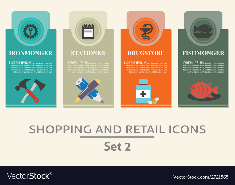 Shopping and retail labels vector | Price: 1 Credit (USD $1)