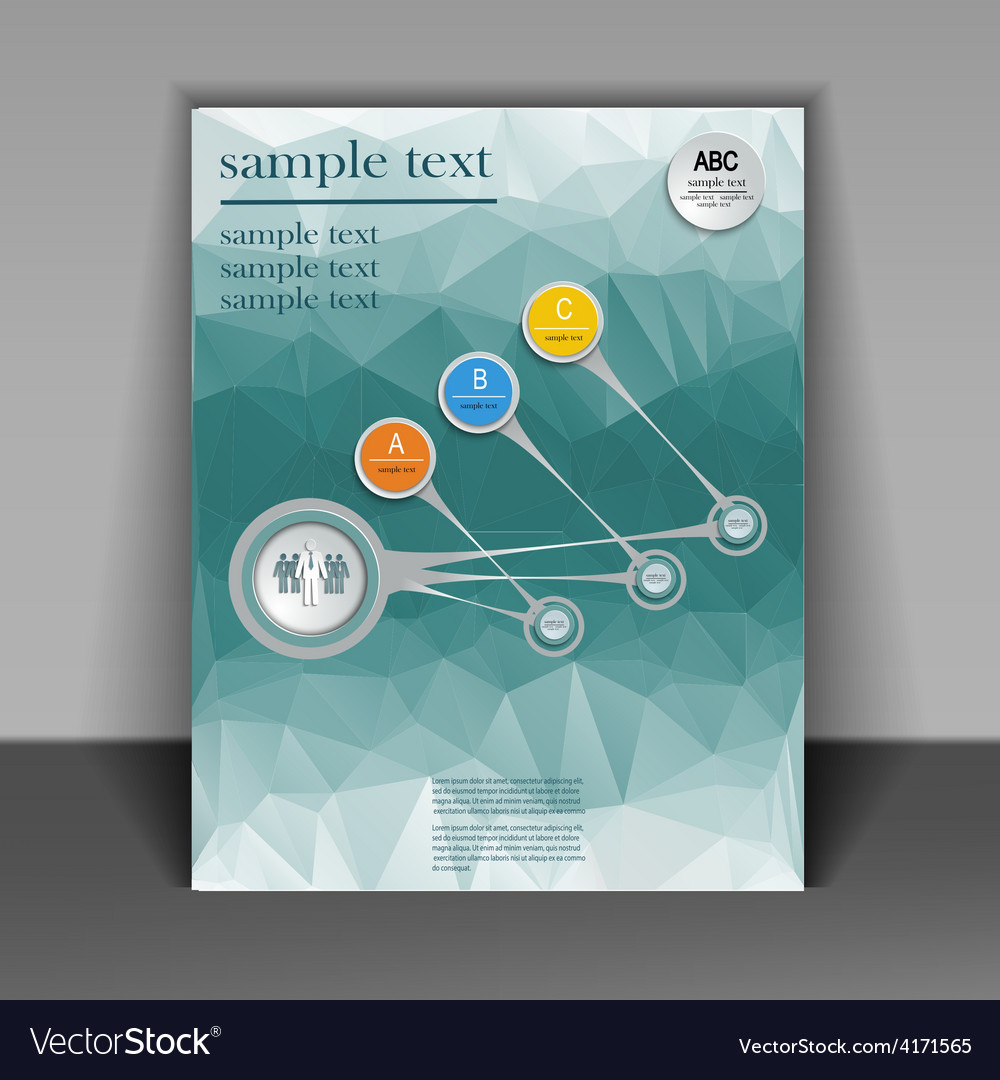 Template booklet on the subject of business vector | Price: 3 Credit (USD $3)
