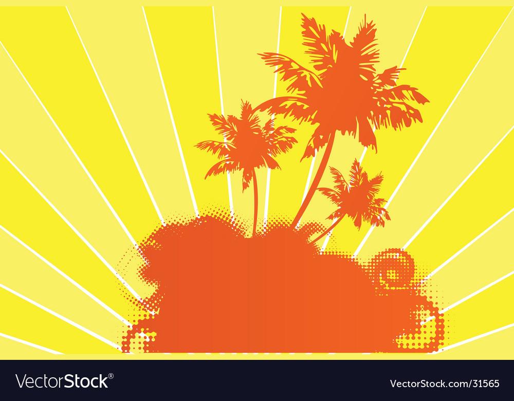 Tropical sunshine vector | Price: 1 Credit (USD $1)