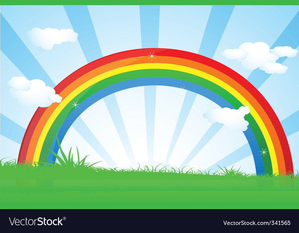 Vibrant rainbow vector | Price: 1 Credit (USD $1)