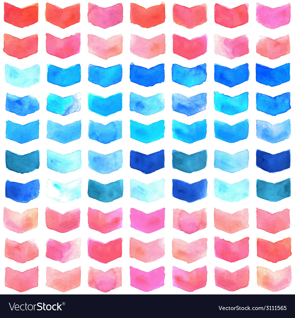 Watercolor geometric seamless pattern vector | Price: 1 Credit (USD $1)
