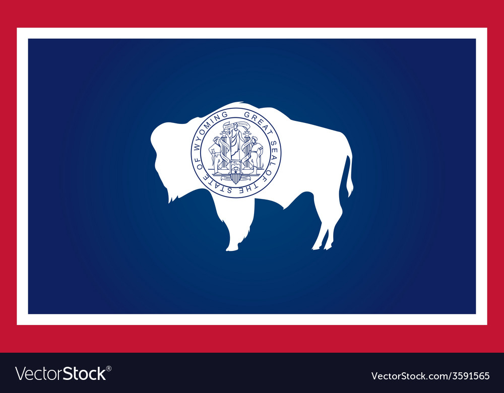 Wyoming flag vector | Price: 1 Credit (USD $1)