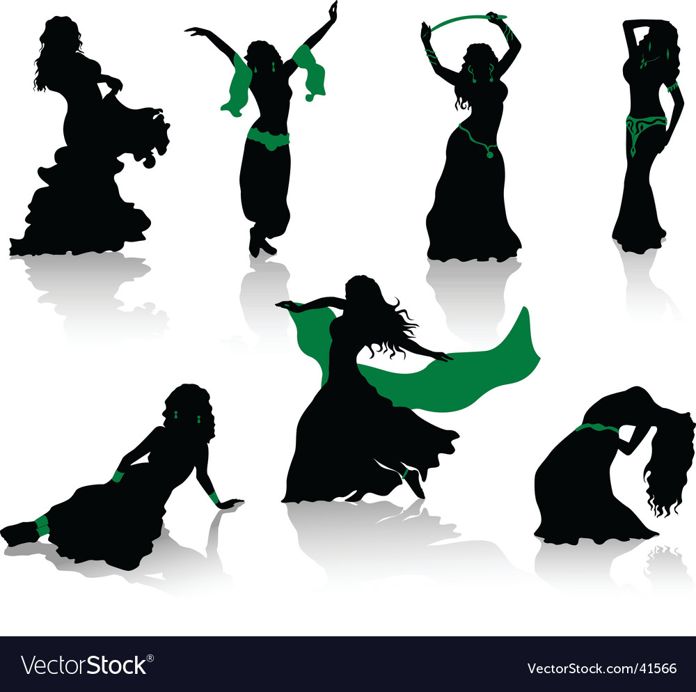 Belly dance vector | Price: 1 Credit (USD $1)