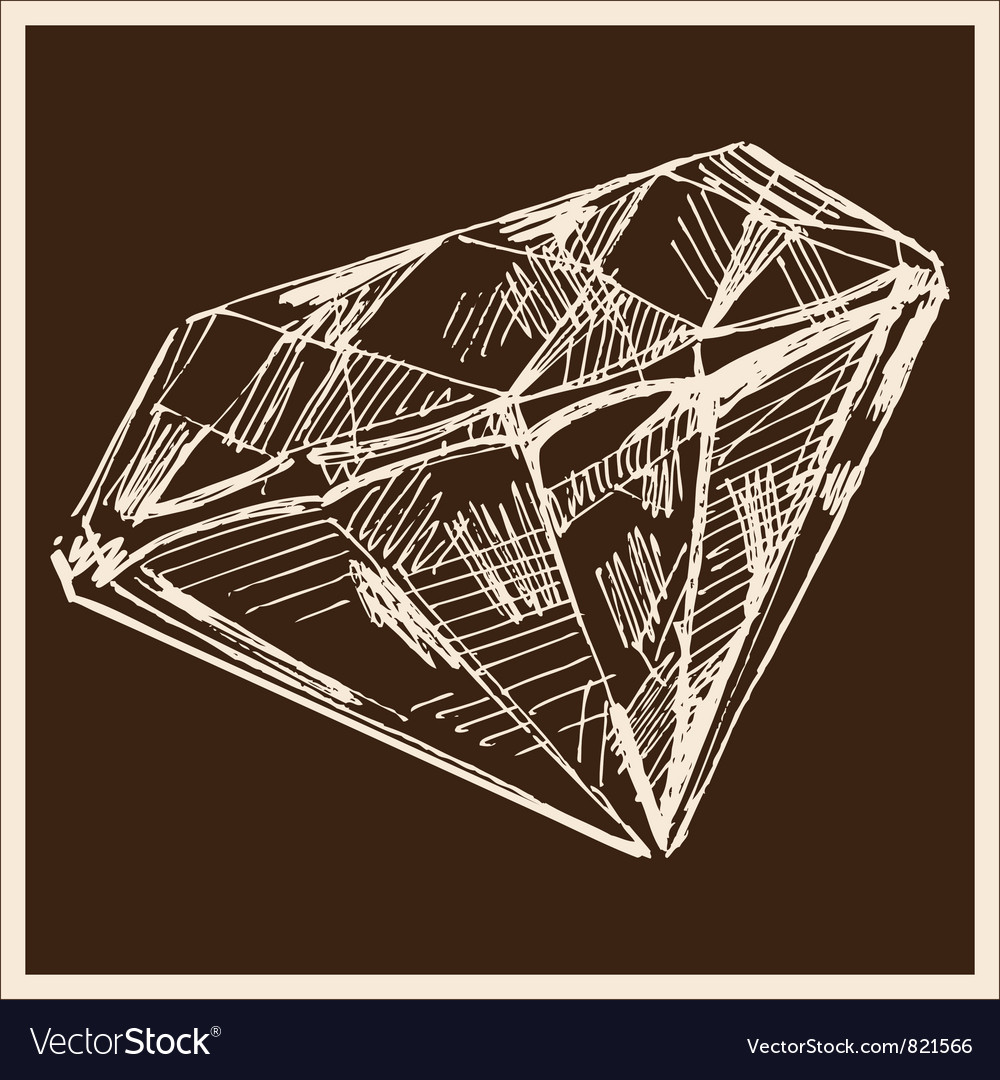 Diamond vintage vector | Price: 1 Credit (USD $1)