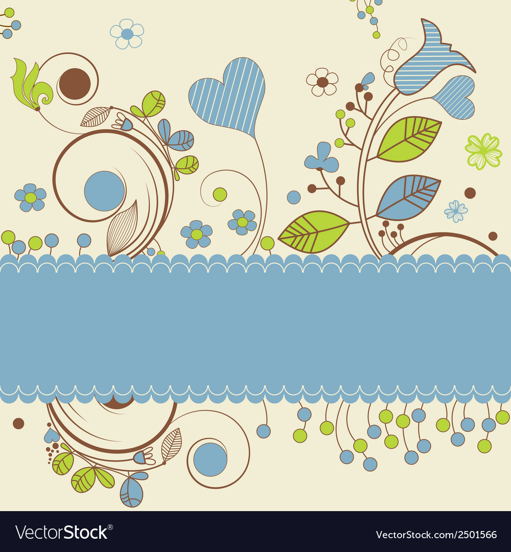 Floral design with space for text vector | Price: 1 Credit (USD $1)