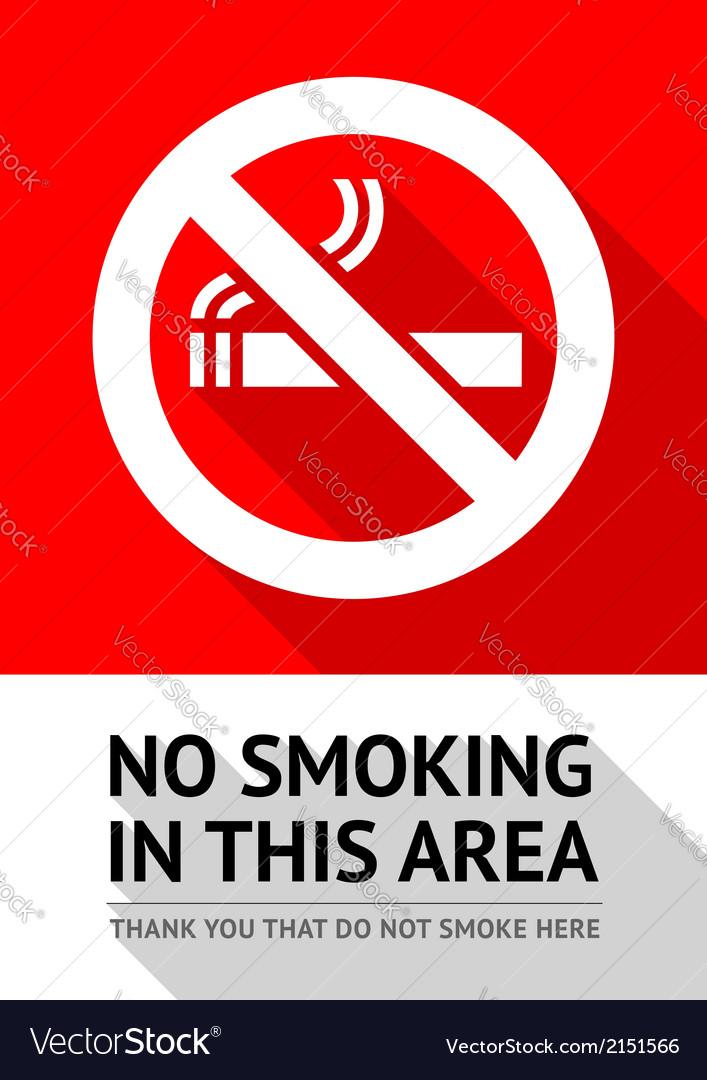Label no smoking sticker vector | Price: 1 Credit (USD $1)