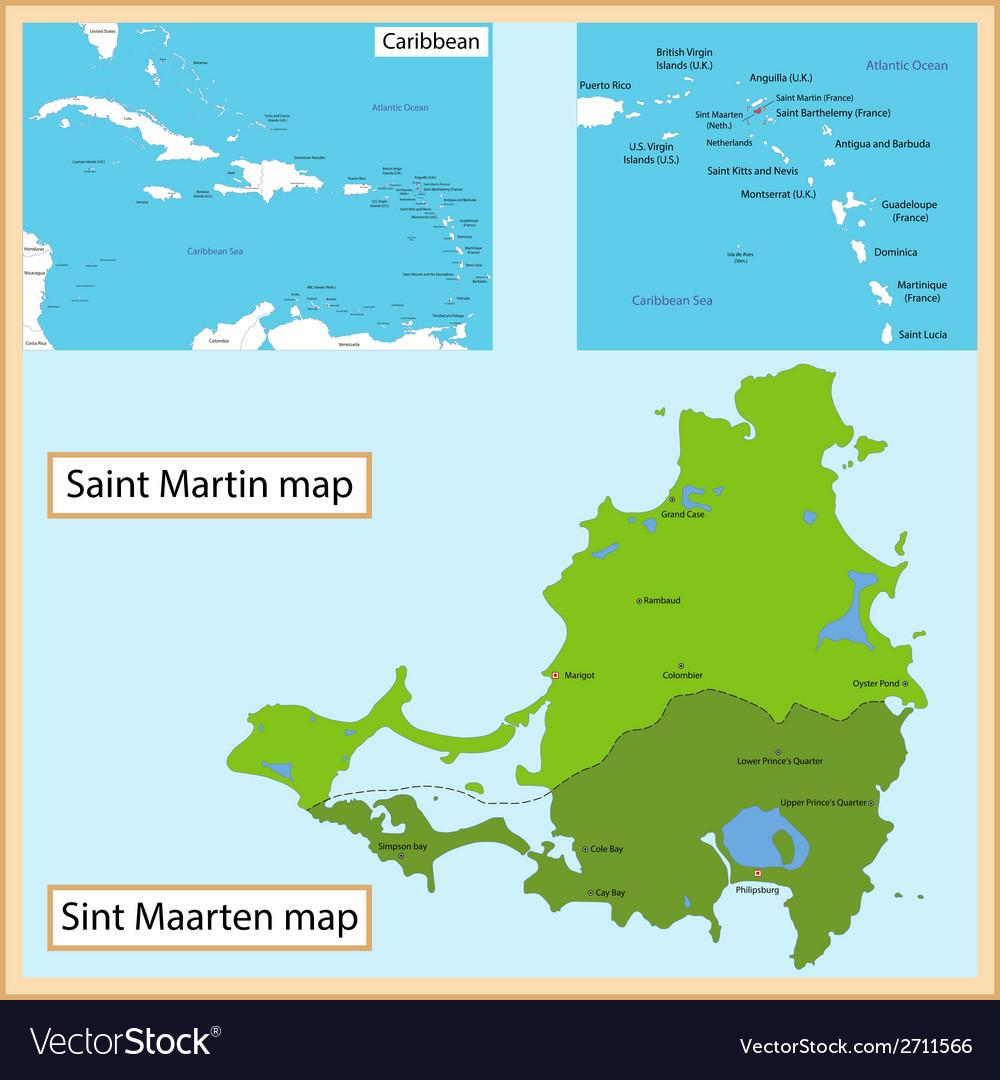 Saint martin and sint maarten vector | Price: 1 Credit (USD $1)