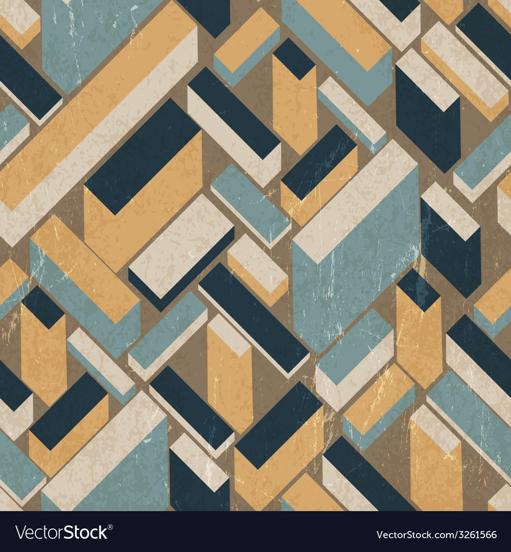 Seamless vintage buildings pattern vector | Price: 1 Credit (USD $1)