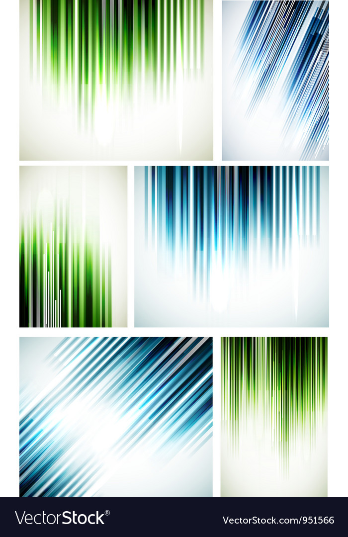 Set of abstract line backgrounds vector | Price: 1 Credit (USD $1)