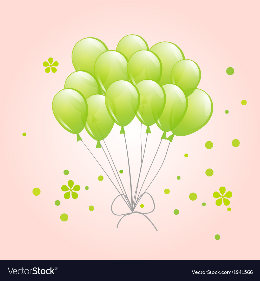 Spring background with balloons vector | Price: 1 Credit (USD $1)