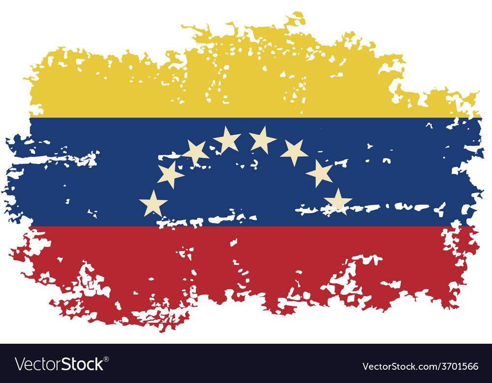 Venezuelan grunge flag vector | Price: 1 Credit (USD $1)
