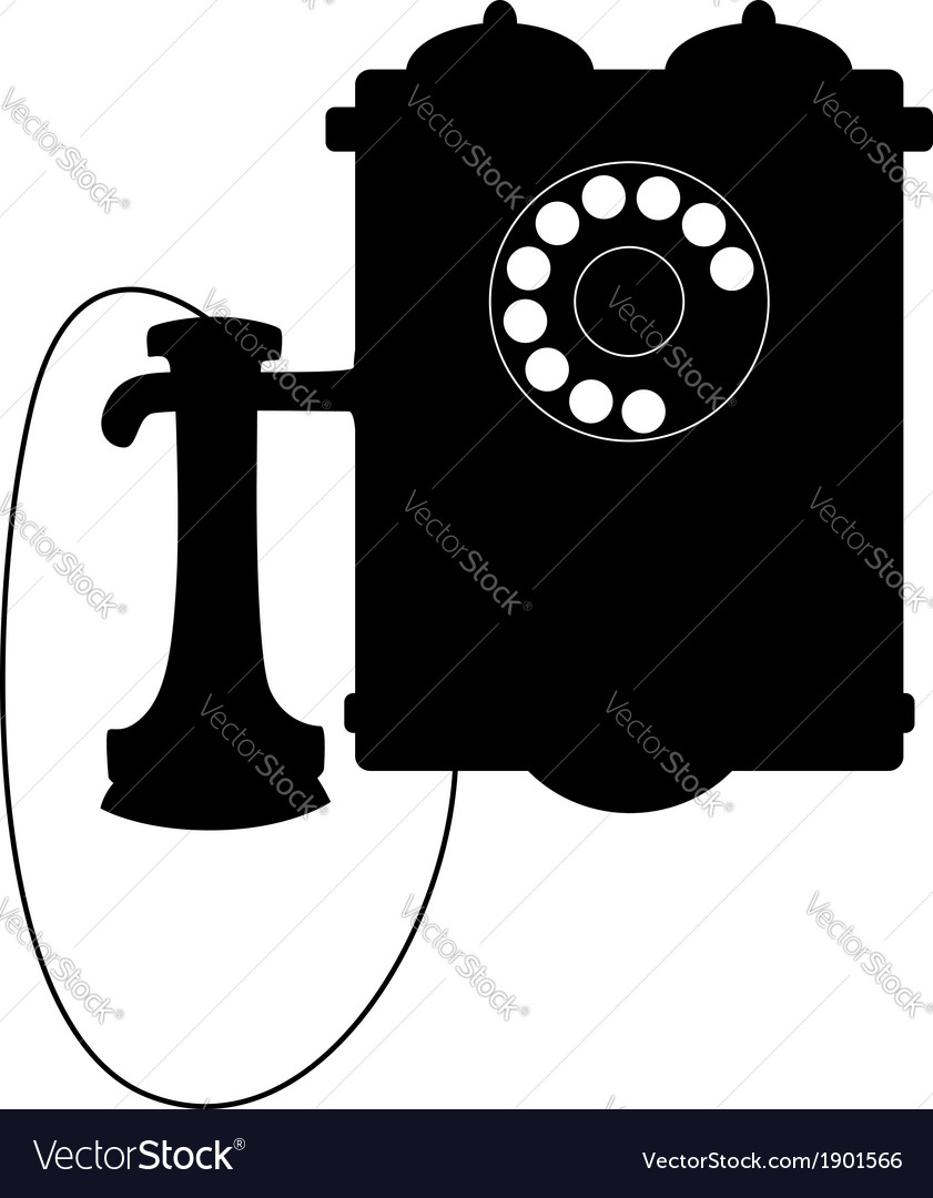Vintage rotary telephone with a mouthpiece vector | Price: 1 Credit (USD $1)