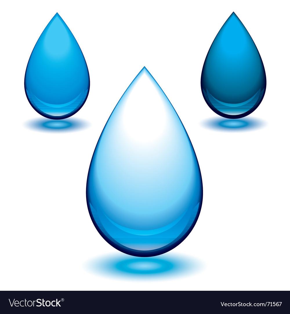 Aqua droplet vector | Price: 1 Credit (USD $1)