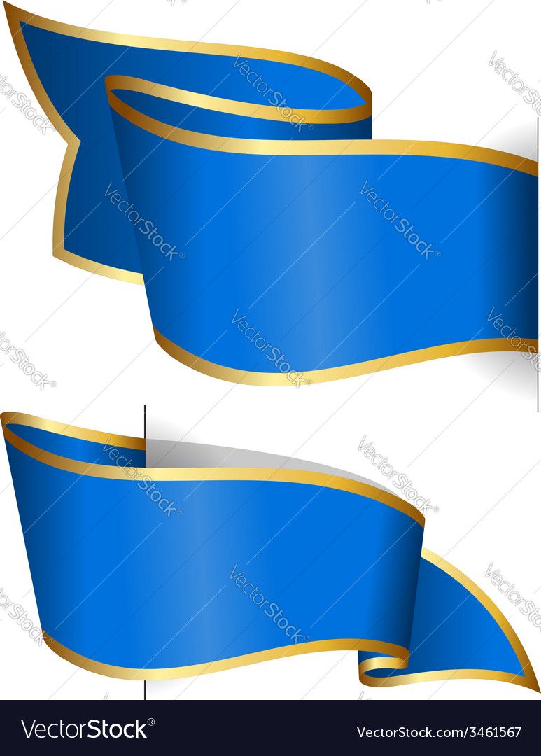 Blue ribbon collection vector   Price: 1 Credit (USD $1)
