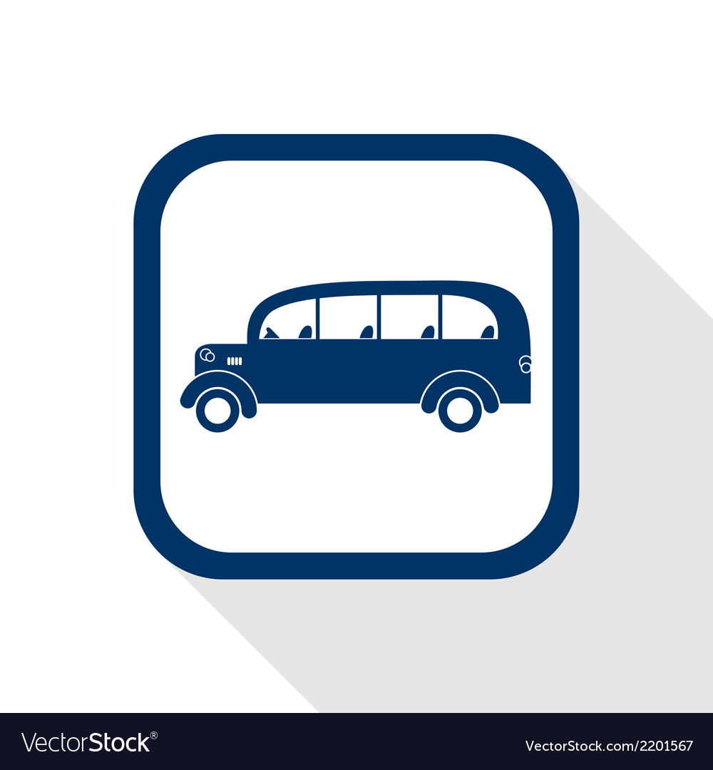 Bus flat icon vector | Price: 1 Credit (USD $1)