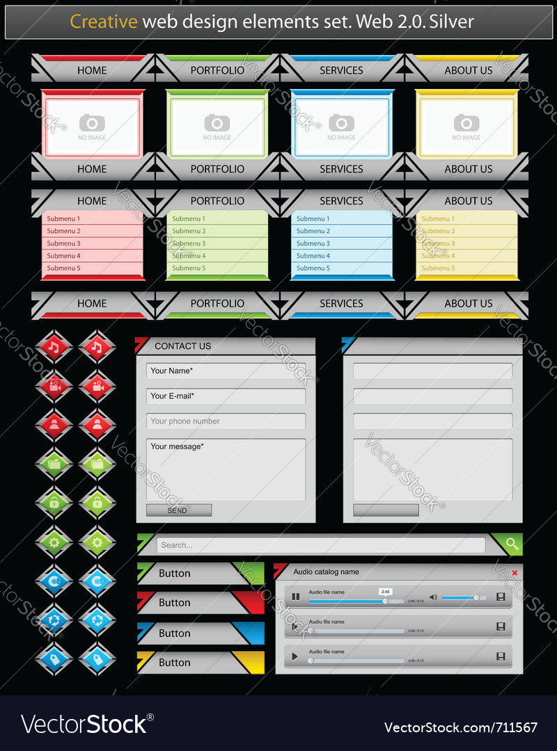 Creative web design vector | Price: 1 Credit (USD $1)