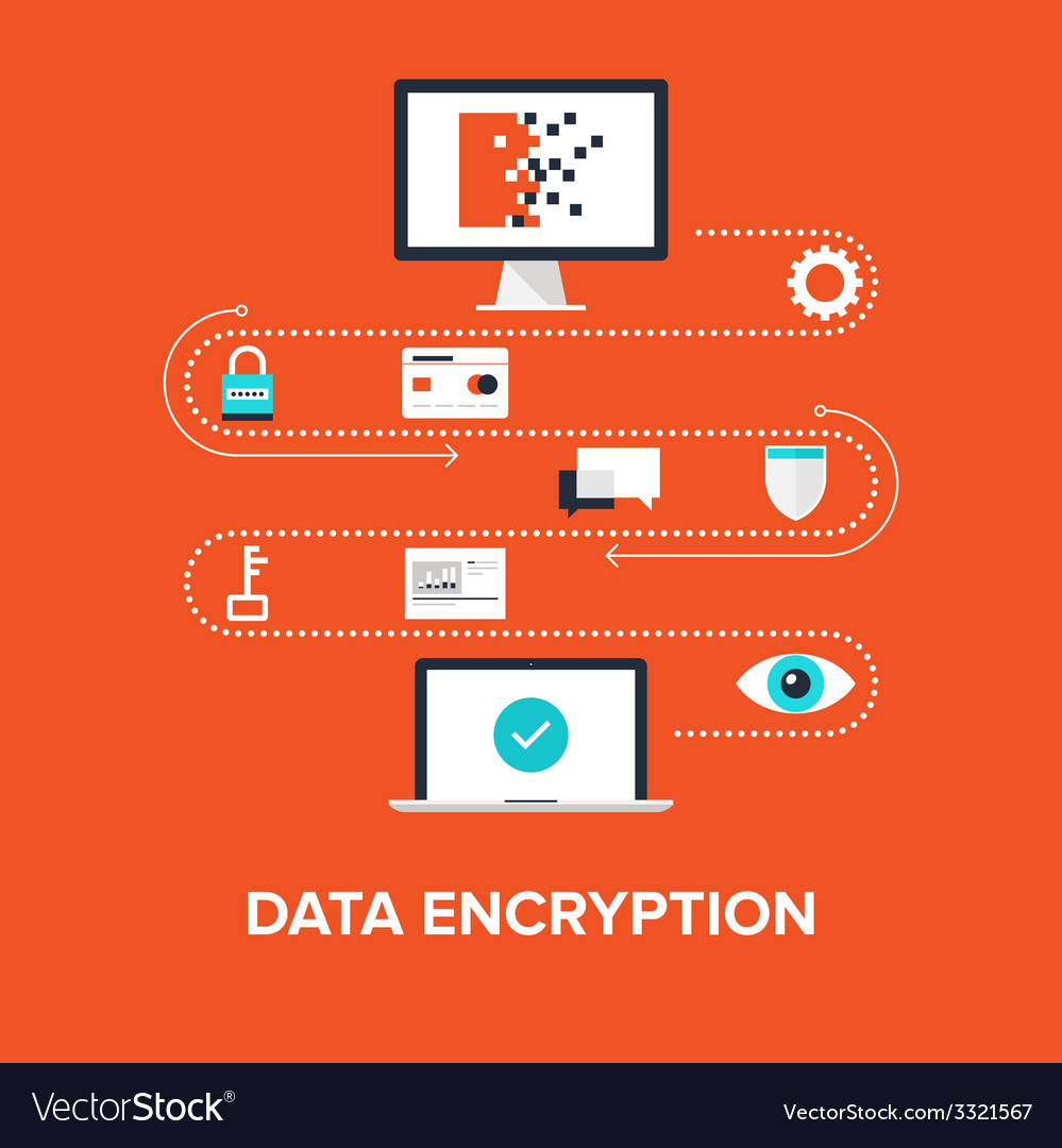 Data encryption vector | Price: 1 Credit (USD $1)
