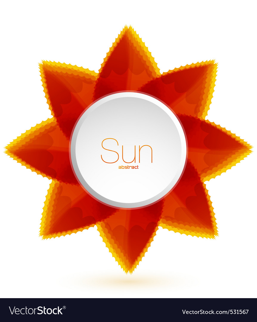 Flower sun vector | Price: 1 Credit (USD $1)