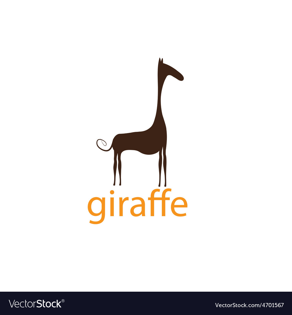 Funny giraffe design template vector | Price: 1 Credit (USD $1)