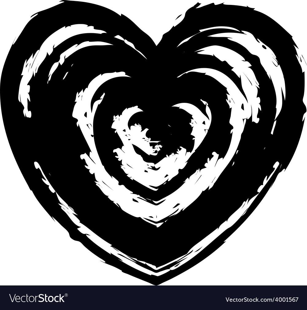 Grunge heart symbol sign design element vector | Price: 1 Credit (USD $1)