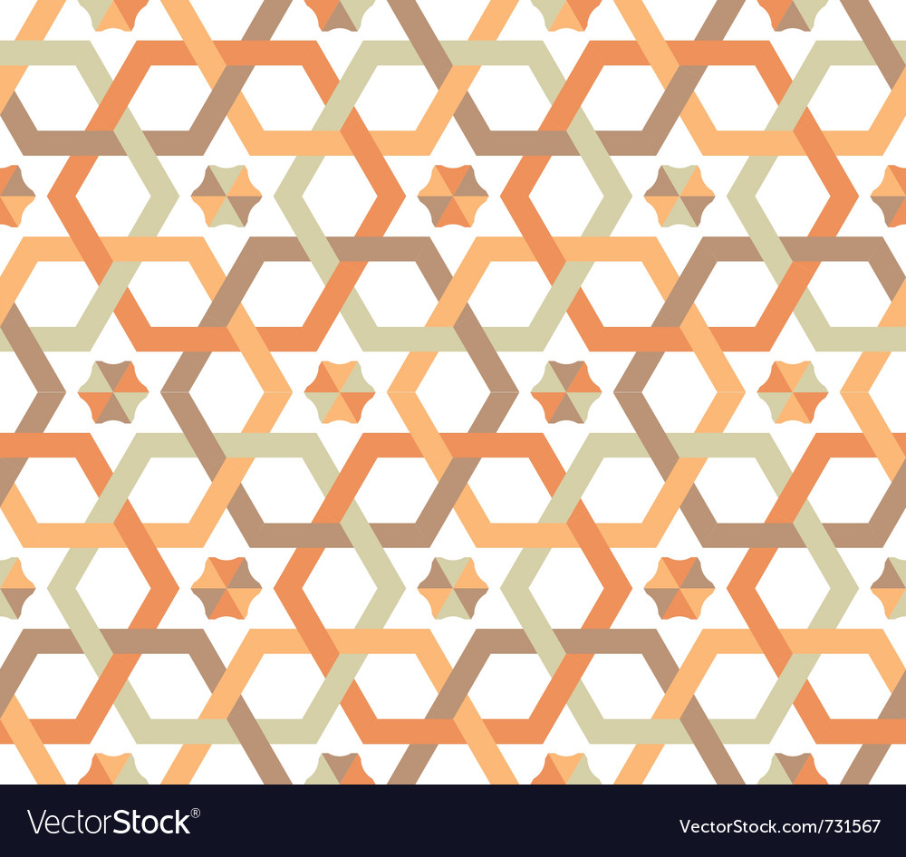 Overlapping hexagons - seamless pattern vector | Price: 1 Credit (USD $1)